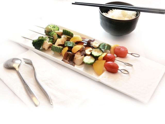 espetinho de vegetais