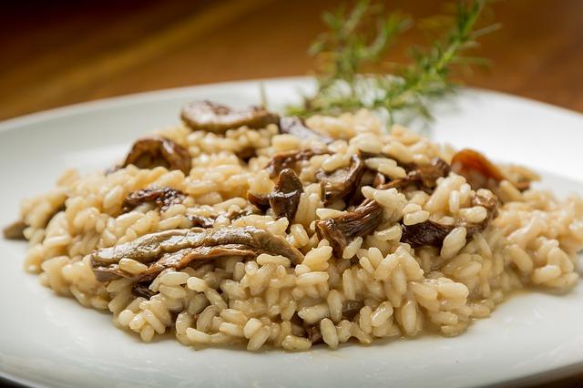 risoto de cogumelo